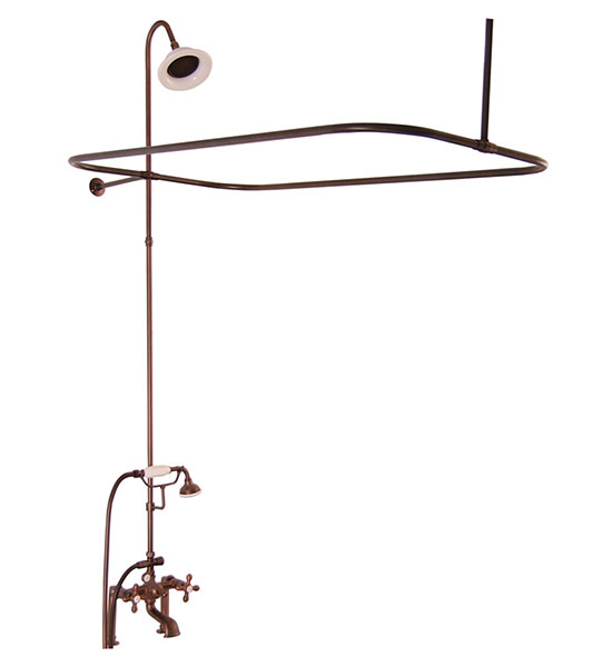 clawfoot tub shower enclosure kit. Oil Rubbed Bronze  1 006 87 Vintage Style Shower Kits for Clawfoot Tubs
