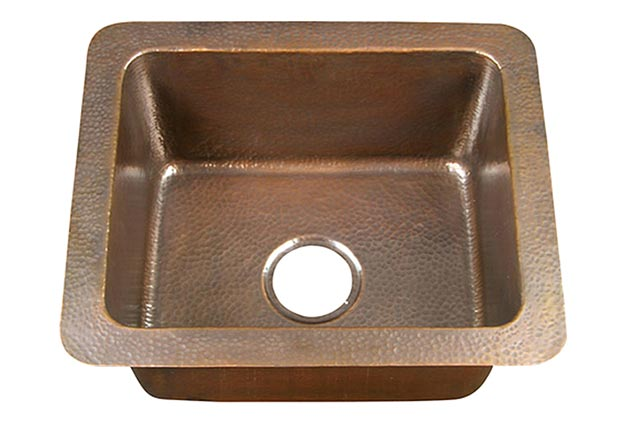single bowl copper kitchen sink