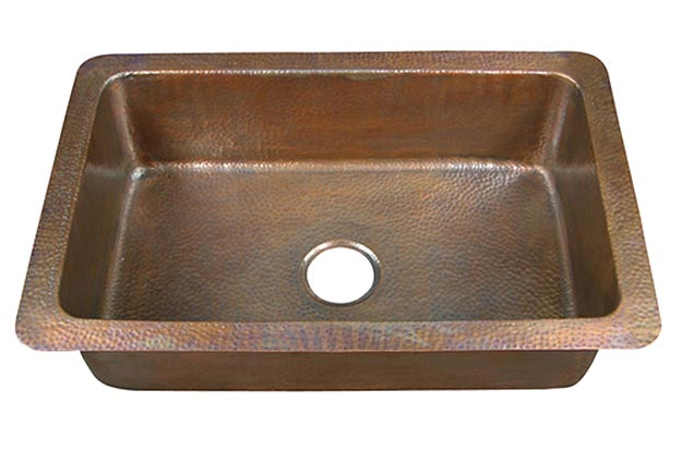 Rhodes single bowl copper kitchen sink