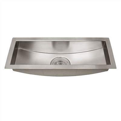 Vedette trough-style stainless steel sink