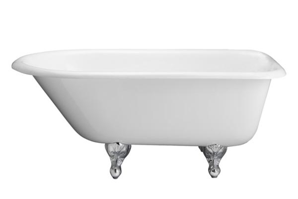 Barclay Brocton/Cadmus cast iron roll top clawfoot tub