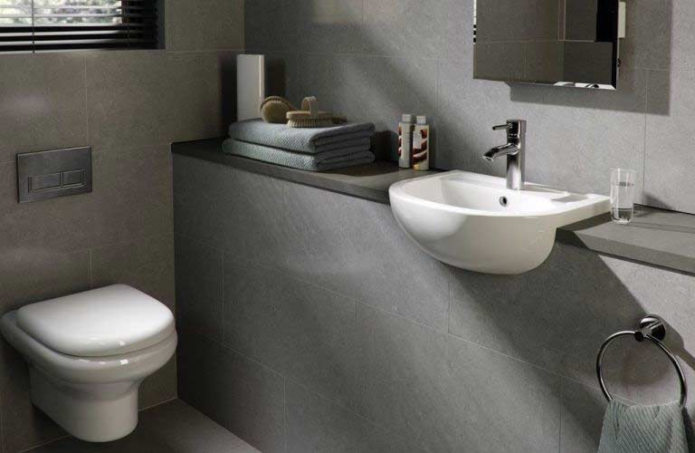 Barclay Compact Wall Mounted Bathroom Sink Installed Click For More Images