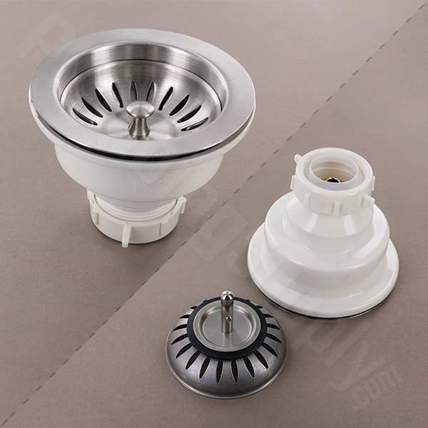 Houzer deluxe satin stainless steel basket strainer - 190-9180