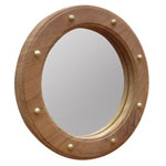 teak framed wall mirror