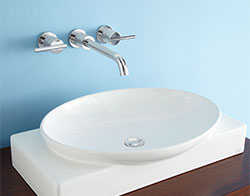 Wall mount vessel faucet example