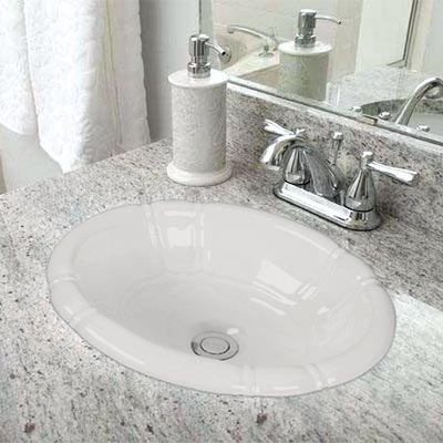 Porcelain Top Mount Bathroom Sink