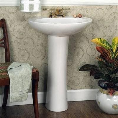 Porcelain pedestal bathroom sink