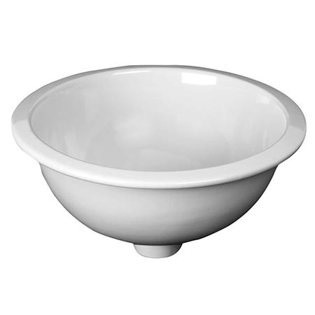 Emma round bowl dual mount vitreous china sink