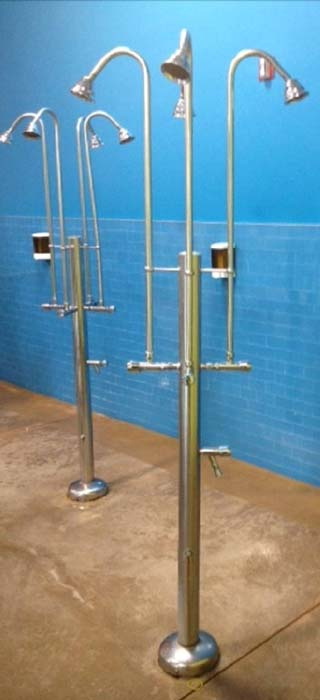 Outdoor beach and pool showers made of high quality for Pool showers