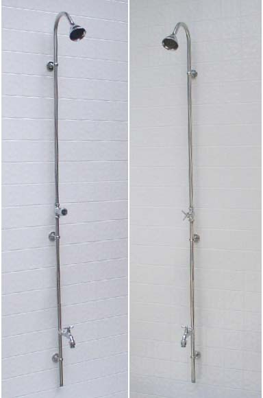 stand up shower faucet. PM 500  Wall Mounted Outdoor Shower Beach and Pool Showers Made of High Quality Stainless Steel
