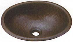 Belle Foret copper lavatory sink