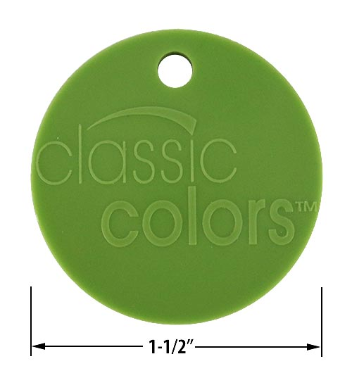 Bemis color chip Fresh Green #255