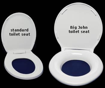 most comfortable toilet seat. Stylish ergonomic design with a larger  more comfortable opening and luxuriously contoured sitting surface that is roomier than any other toilet seat ADA Compliant Extra Large Big John Toilet Seats