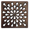 Designer square shower drain cover