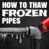 Thaw out frozen pipes