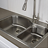 Nantucket stainless steel drop-in kitchen sink