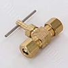 Example of a straight style brass needle valve with compression ends