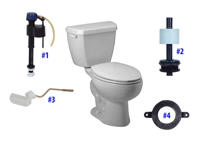 Parts diagram for Maelstrom toilets