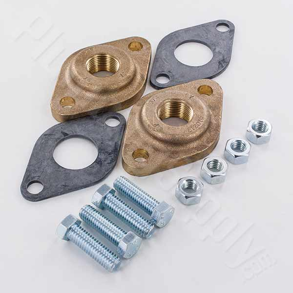 Image of NPT Bronze Flange Set