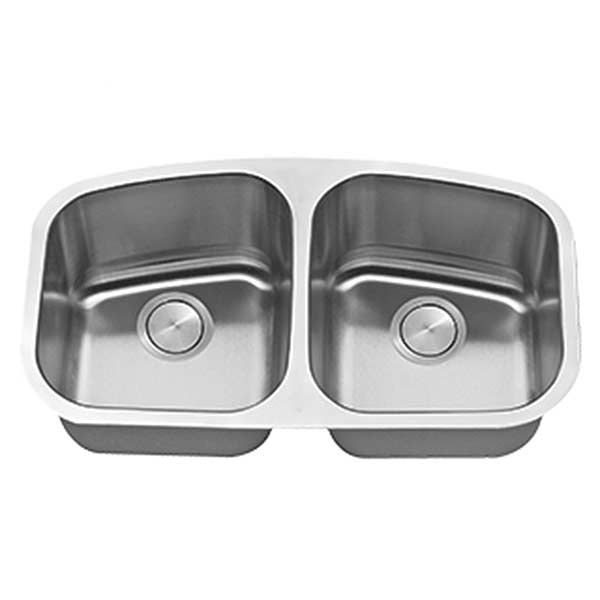 Stainless steel LI-200 equal double bowl sink
