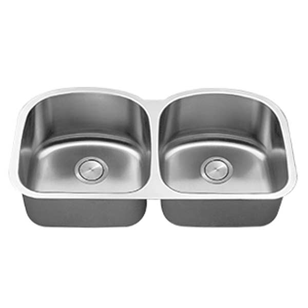 Stainless steel LI-600 equal double bowl kitchen sink