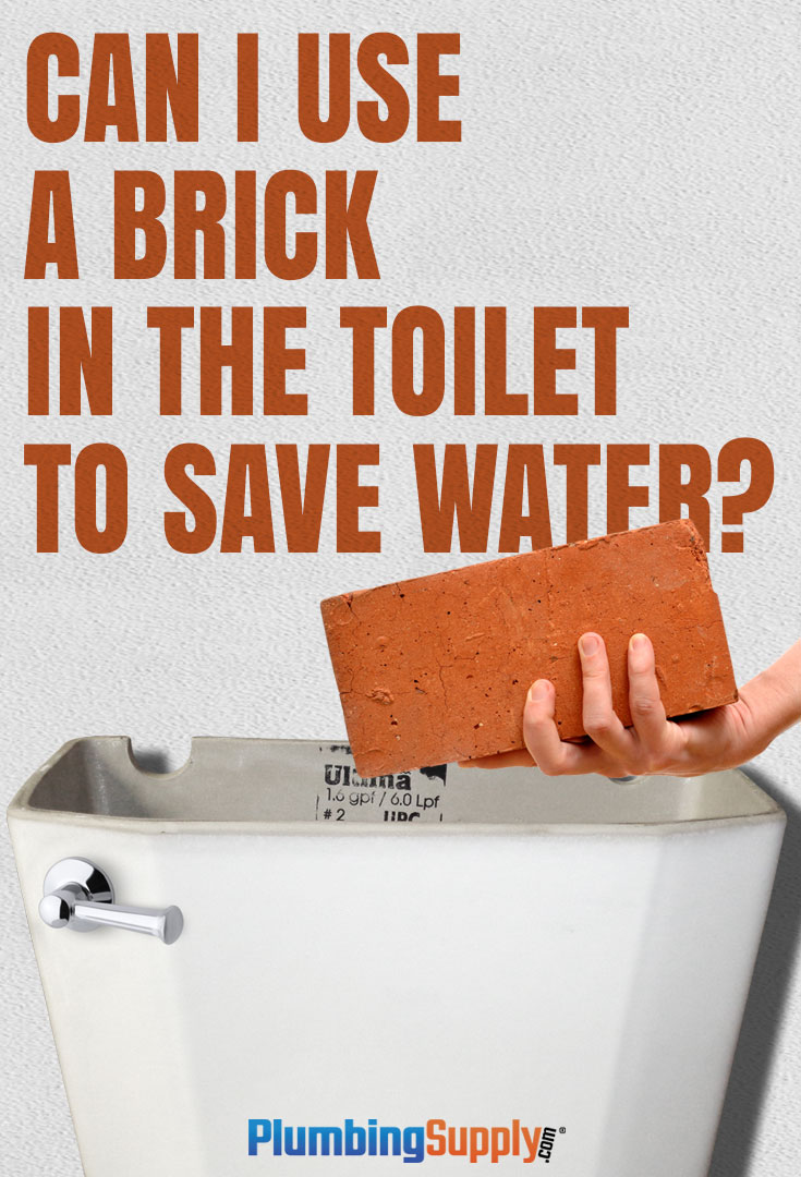 You may have heard you can place a brick in your toilet tank to save water - but is this really a good idea?