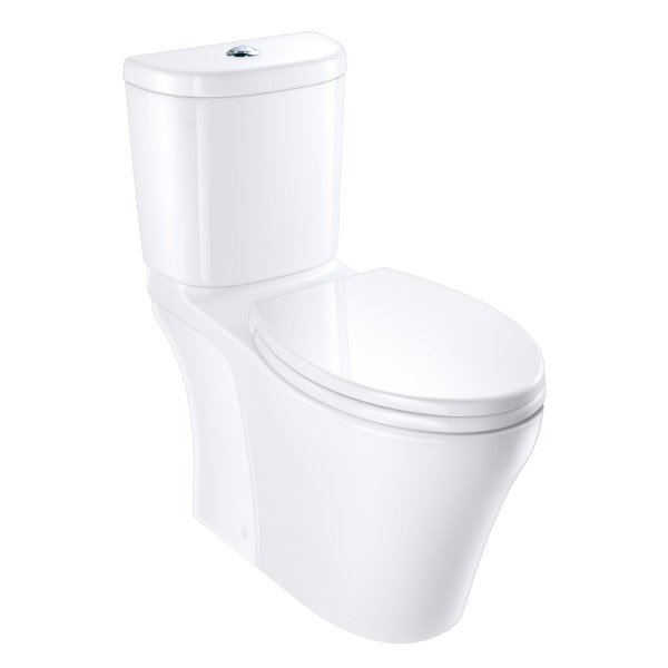 Caroma Somerton Smart Toilet - Push Button Two-Piece Tank #810788W