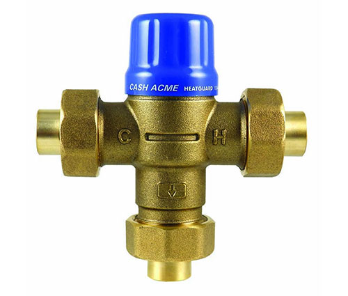 HeatGuard HG110-D whole house or multiple fixture thermostatic mixing valve by Cash Acme