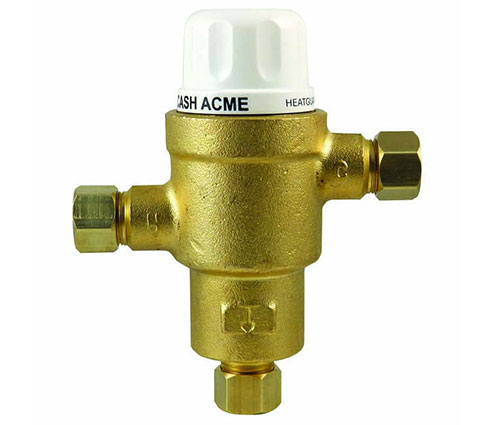 HeatGuard HG145 point-of-use or single fixture thermostatic mixing valve by Cash Acme