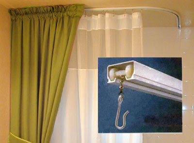 Ceiling Mount Shower Curtain Rod Clawfoot Tub Ceiling Mounted Curtains