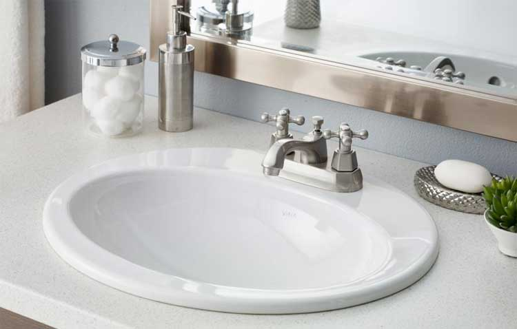 Shop Cheviot Ibiza White Drop In Rectangular Bathroom Sink drop in bathroom  sinks rectangular