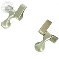 bemis toilet seat hinges. bamboo finish with brushed nickel hinges  Fashionable solid wood and veneer toilet seats