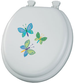 Butterfly Trio Padded Toilet Seat