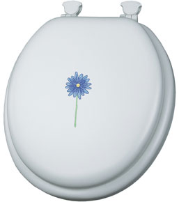 Daisy Bloom Padded Toilet Seat