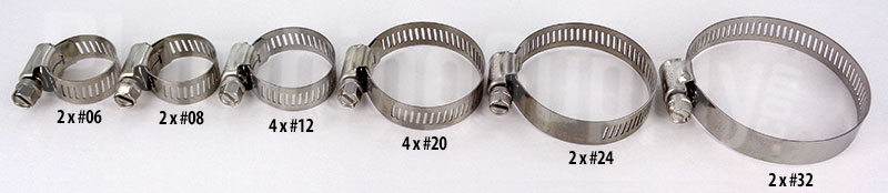 16 piece set of 1/2inch clamps