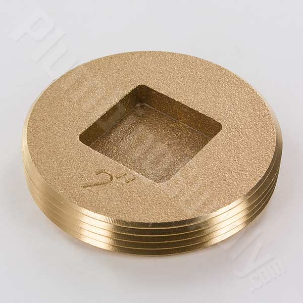2inch flush brass cleanout plug