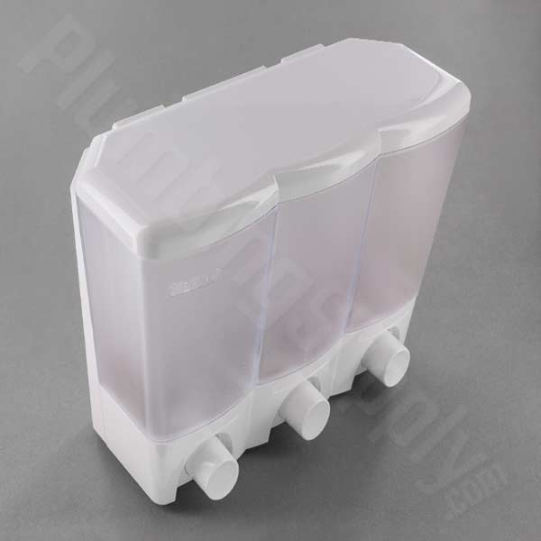 Clear Choice Soap/Shower Three Compartment Dispenser