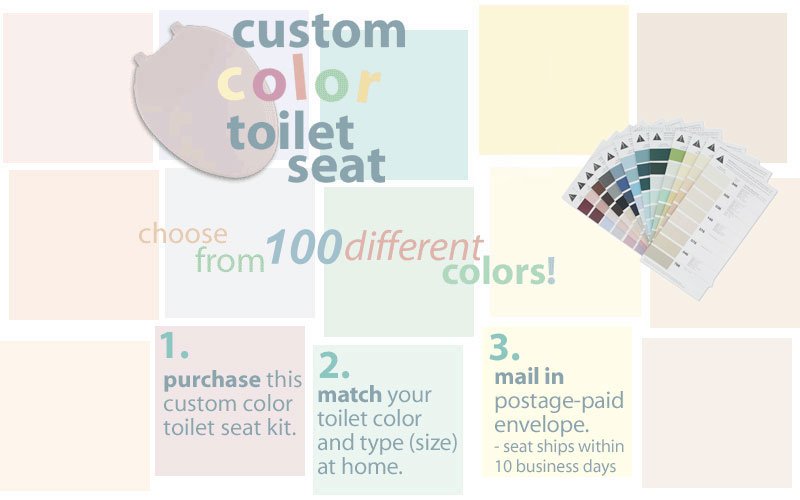 Color Suit Your Toilet From 100 96 Shaded Colors Plus 4