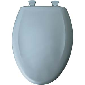 Bemis elongated toilet seat - Cerulean Blue