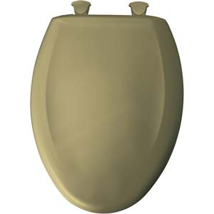 Bemis elongated toilet seat - Dark Avocado
