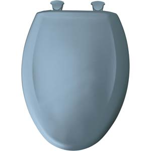 Bemis elongated toilet seat - Glacier Blue