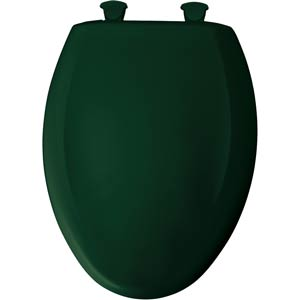 Bemis elongated toilet seat - Rain Forest