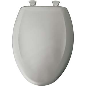 Bemis elongated toilet seat - Silver