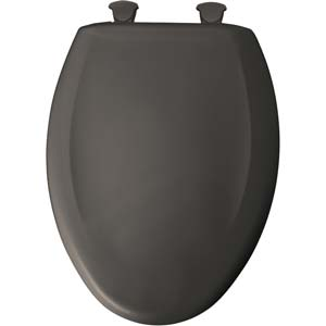Bemis elongated toilet seat - Thunder Grey