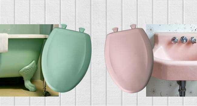Change your decor with the seasons or for holidays Colored toilet seats to match current discontinued