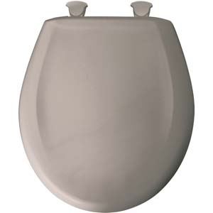 Bemis round toilet seat - Light Mink