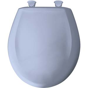 Bemis round toilet seat - Oxford Blue