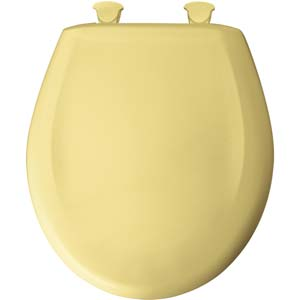 Bemis round toilet seat - Yellow