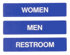 example of Sidebar Restroom Signs