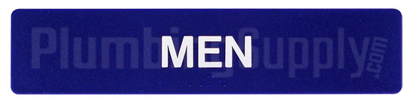 sample of Sidebar Men's Restroom Sign